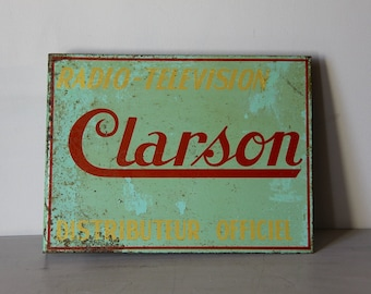 French Vintage Metal Sign Shabby Chic Advertising Sign