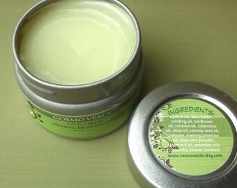 All Purpose Herbal Healing Salve - ORGANIC - Eczema -  Psoriasis - Dry Skin - Tattoo - Irritations -  Sunburn - Moisturizer - Handmade