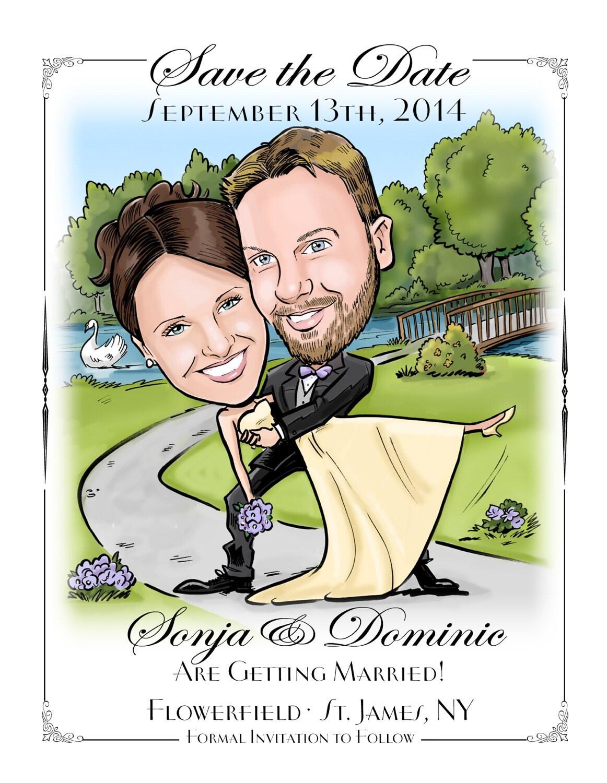 completely custom save the date magnet postcard wedding, Wedding invitations