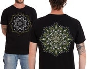 Mens Psychedelic T-shirt, Glow In The Dark, Psychedelic Shirt, Graphic Tee, Availabe In Black, Grey, Olive, Brown