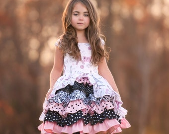 Take Me to Paris Girls Princess Party Dress