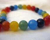 Rainbow Jade Bracelets