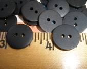 "15MM Matte Black Buttons 48 Plastic 5/8"" 24L 2-hole sew on sewing crafts paper tag supply bulk buttons"