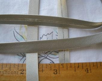 "Gold Taupe Satin Single Fold Bias Tape Ribbon 3/8"" folded bodice hats sewing crafts costume choose yards yardage"