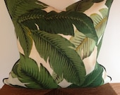Tommy Bahama Swaying Palms Pillow Cover with Piping in Indoor Outdoor Fabric
