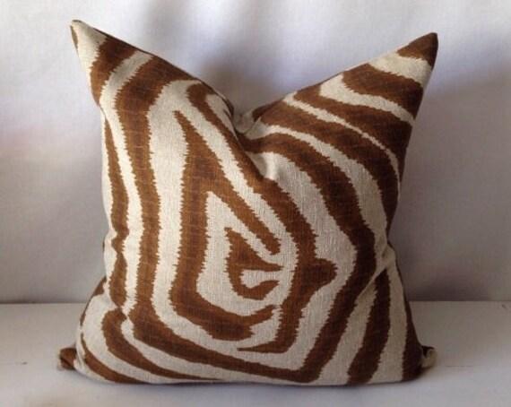 Designer Animal Print Pillow Cover by PillowLoftHomeDecor on Etsy