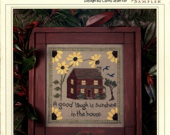 The Victoria Sampler: Sunflower House - a Cathy Jean Cross Stitch Pattern