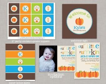 Little Pumpkin Birthday, Our Little Pumpkin, Our Little Pumpkin is Turning One, Our Little Pumpkin Birthday Party, Little Pumpkin Birthday