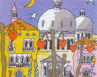 Cross Stitch Chart Venice Dome by Michael Powell 7.5 x 8 inches on 14-count, Architecture Cross Stitch Pattern