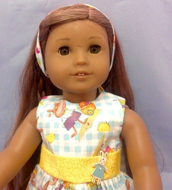 Happy Easter Bunny Dress for the American girl doll
