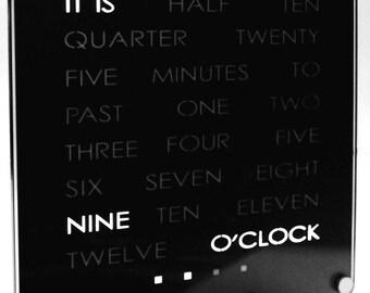 Creative Desk Clock - The Original by DougsWordClocks.com!