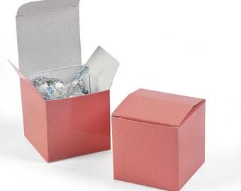 12 ea. Coral  Mini Gift (Favor) boxes - 2x2x2