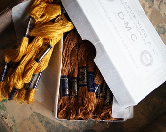 Brown French DMC Embroidery Thread