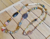 RESERVED. On The Road To FouTa DjaLon,Triba,l Primitif,Urban Earthy,Talisman,Amulette,Bohemian flare,Voyage to Africa,Ethnic,Boho,Necklace
