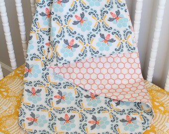 Custom Baby Crib Bedding- Design Your Own Baby Bedding- Reversible Cotton Baby Blanket