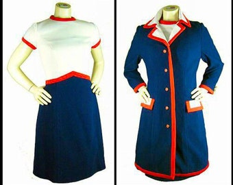 Amazing super MOD Lilli Ann vintage 60's dress.