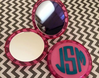 Personalized compact mirror/Hostess Gift/Bestie Gift/Teacher Gift/Shower Gift/Bridesmaid Gift