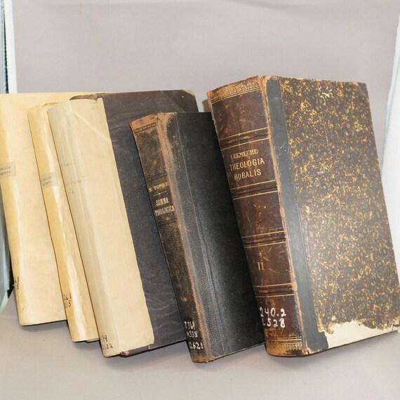 Latin Catholic Books 1800s Decor Religious Books Antique