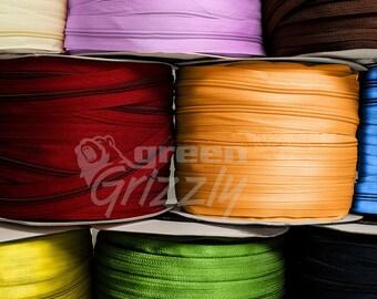 Continuous zipper zip nylon chain coil size No.4 + sliders various color AQZ+AQP