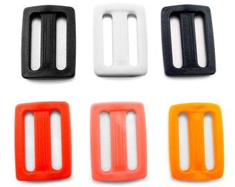 """25 mm / 1"""" - plastic DELRIN buckle slider 3 bar slider for webbing strap AP1"""
