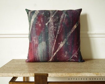 "Starry sky pillow Northern night sky / Linen decorative Square Cushion 18""x18"".  Violet ..   /  FRAGMENTS"
