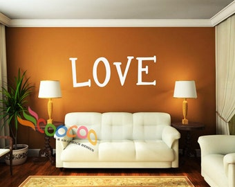 Wall Decal Sticker Removable Word, lettering, Quote DC0328 LOVE