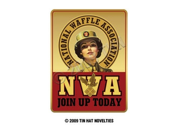 National Waffle Association - Join Up Today Sticker