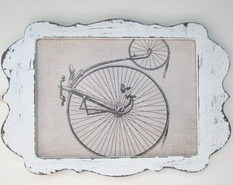 Hand Painted Rustic Shabby Chic Vintage Distressed White Wash Picture Frame - Choice of 2 Sizes