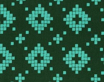 Mesa Tile in Evergreen, Alexia Abegg, Cotton+Steel, RJR Fabrics, 100% Cotton Fabric, 4008-3
