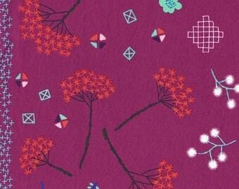 Mochi Floral in Purple, Rashida Coleman Hale, Cotton+Steel, RJR Fabrics, 100% Cotton Fabric, 1910-2