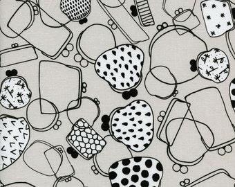 Black and White Gamaguchi, Rashida Coleman Hale, Cotton+Steel, RJR Fabrics, 100% Cotton Fabric, 5027-1