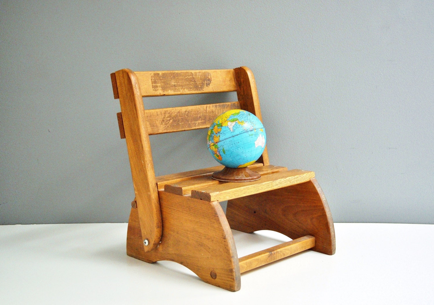 Marvelous photograph of Vintage Wooden Child's Step Stool by thewhitepepper on Etsy with #783A17 color and 1500x1053 pixels