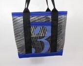 Recycled Carbon Fiber Sailcloth Tote Bag - blue number 3