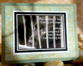 I Sadness I feel looking in is nothing compared  Handmade Greeting Card
