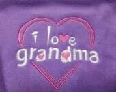 Baby Bib I Love Grandma Baby Bib Purple Embroidered Baby Girl Bib Gift Idea for Baby Girl