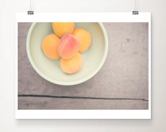 apricot photograph kitchen wall art food photography apricot print rustic home decor fruit photograph food print fruit print