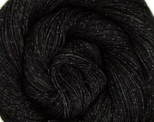 glitter sock yarn FE26 hand dyed sw merino nylon stellina fingering weight 3.5oz 435 yards
