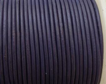 2mm Purple Leather Cord 1m- 1 yard S 40 140