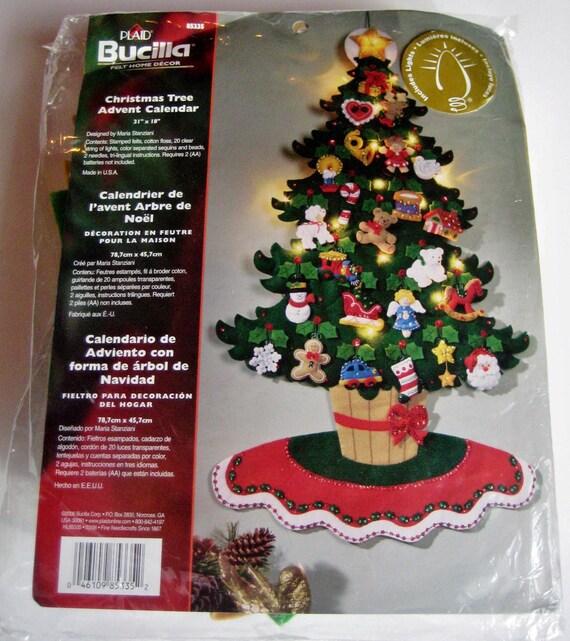 Felt Christmas Tree Advent Calendar: Bucilla'sLighted Christmas Tree Advent