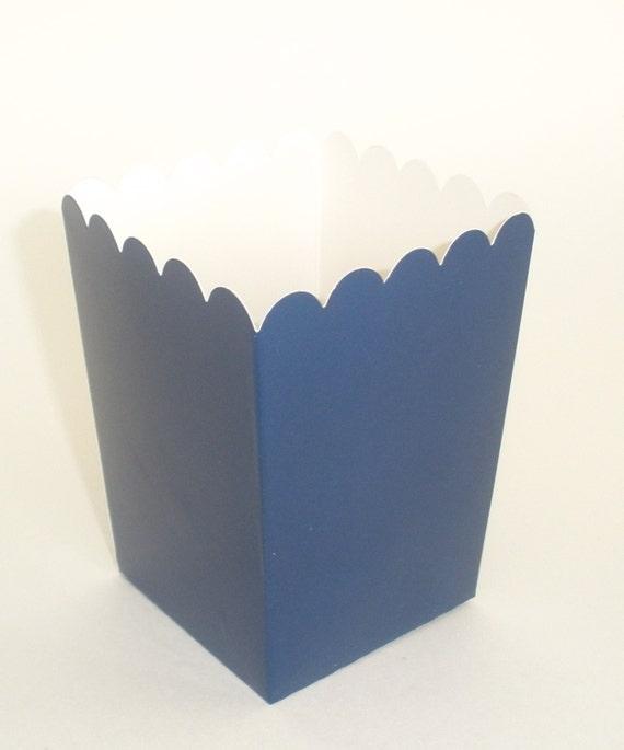 Blue Popcorn Favor Boxes : Navy blue popcorn boxes ct treat by dimestorebuddy