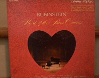 Rubinstein-Heart of the Piano Concerto single LP