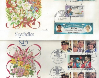 Album   Royal Wedding  STAMP  collection 1st Day Fleetwood  Covers July 29, 1981    53 Countries  CHARLES & DIANA