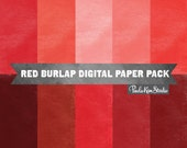 80% OFF SALE Red Digital Paper - Scrapbook Papers Digital Background Burlap Texture