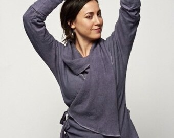 Bodhi Wrap Hemp Jacket - hemp, organic cotton jersey/fleece