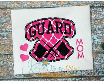 Guard Mom - Block Arc Applique