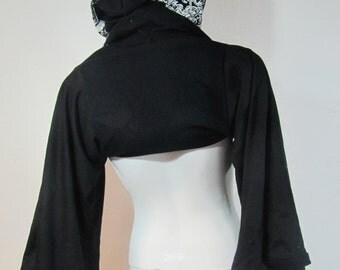 T-Shirt Hood with Sleeves Skeleton Hood-T