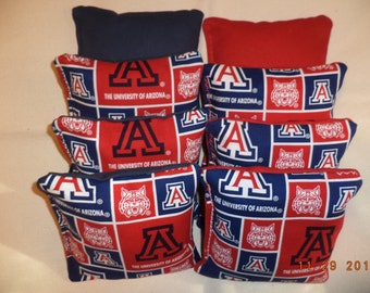 Cornhole bags Arizona Wildcats cornhole bean bags Wildcats corn hole bags 8 ACA bean bag toss game