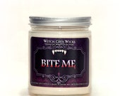 Halloween candles, Bite Me, Halloween home decor, spooky decor, creepy home decor, soy candle, soy wax candle, scented soy candles