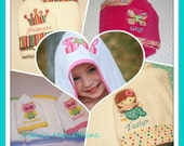 CUSTOM / Child's HOODED TOWEL / Super Soft / Custom Made for You / Applique - Embroidery - Monogram - Personalized