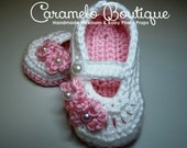 Pink Baby Girl Mary Janes Shoes-Pink Newborn Baby Girl Shoes-Pink Baby Girl Slippers-Pink Baby Girl Booties-Baby Loafers--Photography Prop